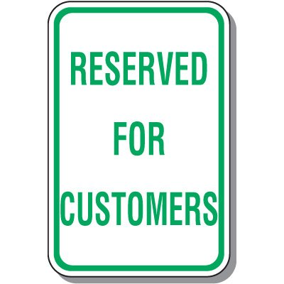 Visitor Parking Signs - Reserved For Customers