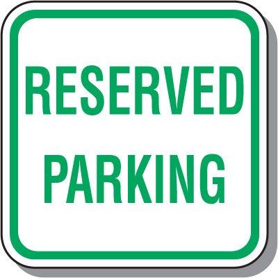 Visitor Parking Signs - Reserved Parking
