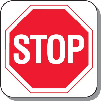 Visitor Parking Signs - Stop Sign Symbol