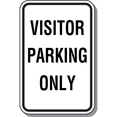 Visitor Parking Signs - Visitor Parking Only