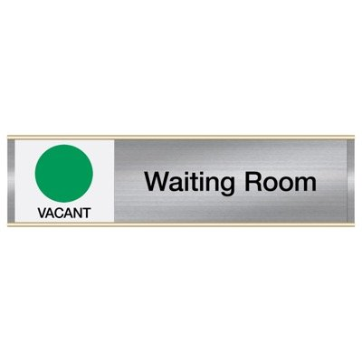 Waiting Room - Vacant/Occupied - Engraved Facility Sliders