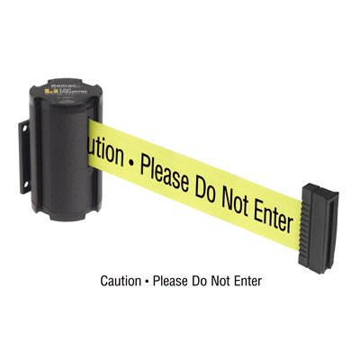 Beltrac® Wall-Mount Retractable Belts - Safety Message Belt 50-3015WB/24/FY/S6