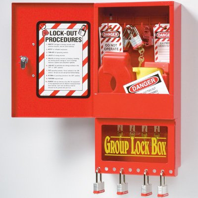 Wall Mount Combo Storage Cabinet/Group Lock Box