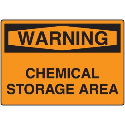 Warning Signs - Warning Chemical Storage Area
