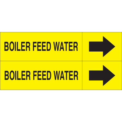 Weather-Code™ Self-Adhesive Outdoor Pipe Markers - Boiler Feed Water