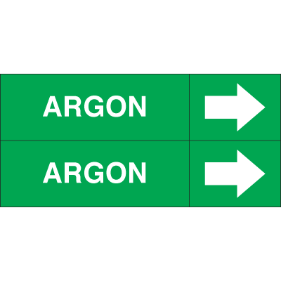 Weather-Code™ Self-Adhesive Outdoor Pipe Markers - Argon
