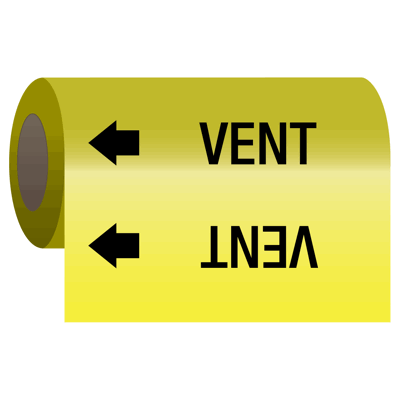 Wrap Around Adhesive Roll Markers - Vent