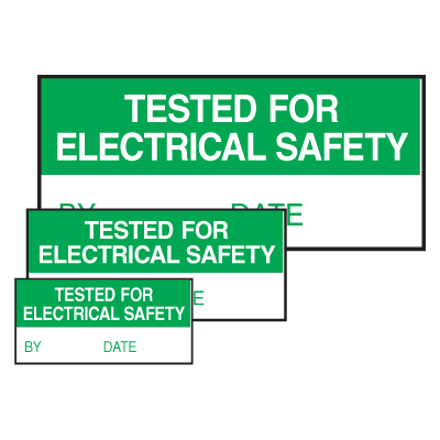 Self-Laminating Labels - Tested For Electrical Safety