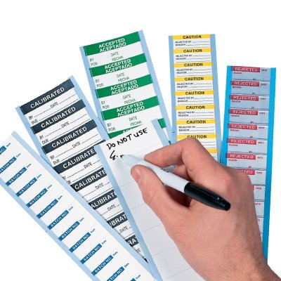 Write On Labels - Tested For Electrical Safety