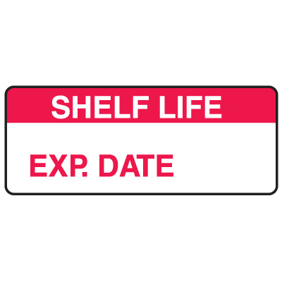Shelf Life Exp. Date Write On Labels On A Roll