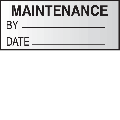 Maintenance By Date Write On Labels