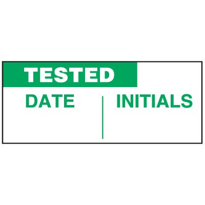 Write-On Status Roll Labels - Tested Date ___ Initials ___