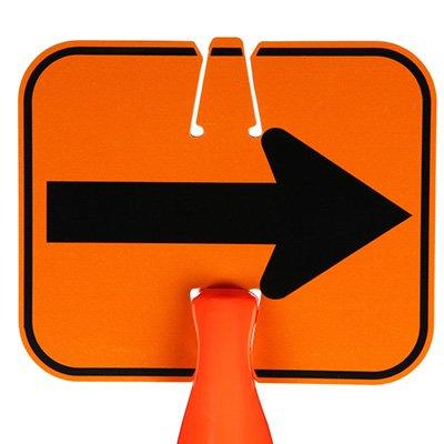 Traffic Cone Signs - Arrow