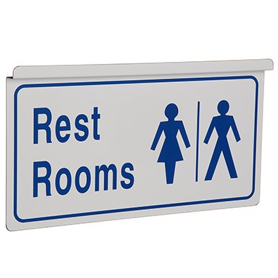Restroom Signs - Drop Ceiling Double-Sided Signs