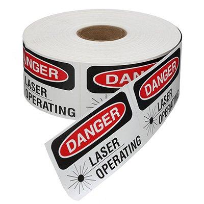 Safety Labels On A Roll - Danger Laser Operating