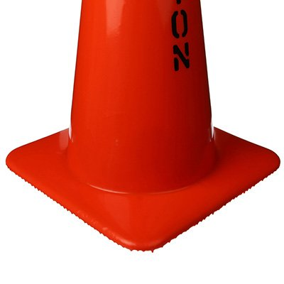 Warning Message Traffic Cones - Caution