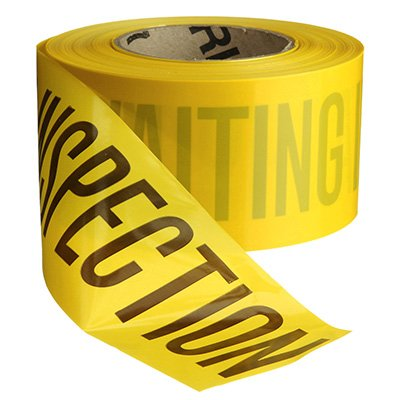 Quality Control Barricade Tape - Awaiting