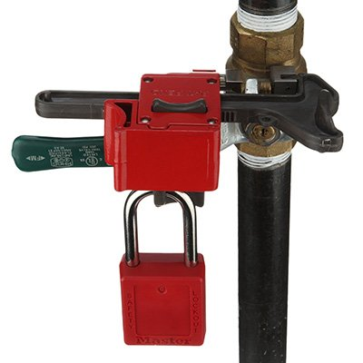 MasterLock® Seal Tight™ Handle-On Ball Valve Lockout S3068