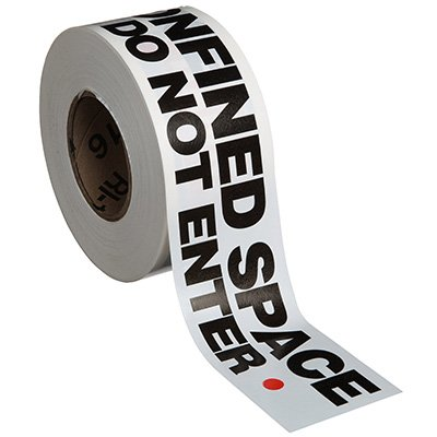 Danger Confined Space Do Not Enter Barricade Tape