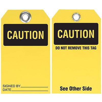 Caution - Dry Erase Tag