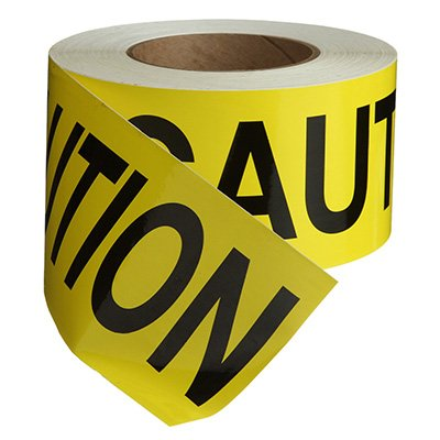 Nadco Caution Message Tape 3X200-SAWT44