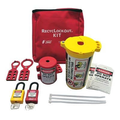 Zing® RecycLockout Lockout Tagout Kit with Plug Lockout
