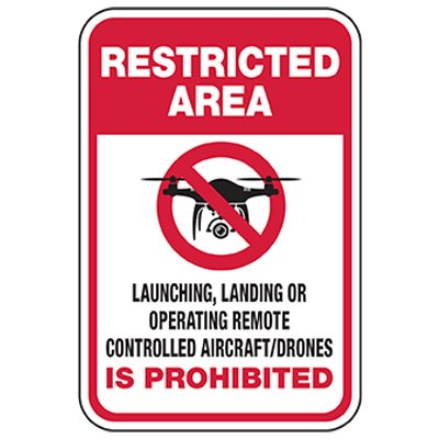 Restricted Area: Remote Control Drone Prohibited
