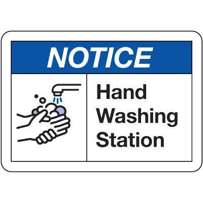 Notice Hand Washing Station Sign