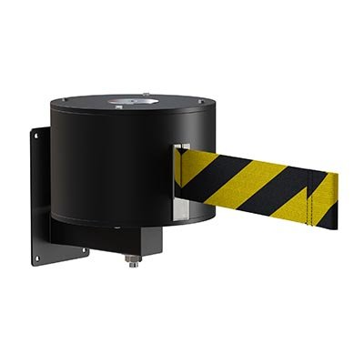 XL Black Metal Wall Mount Retractable Belt Barriers