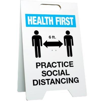 Practice Social Distancing Floor Stand