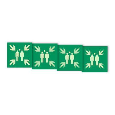 Seton Motion® Photoluminescent First Aid Sign Assembly Point