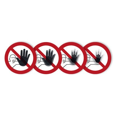 Seton Motion® Prohibition Sign No Access For Unauthorized Persons