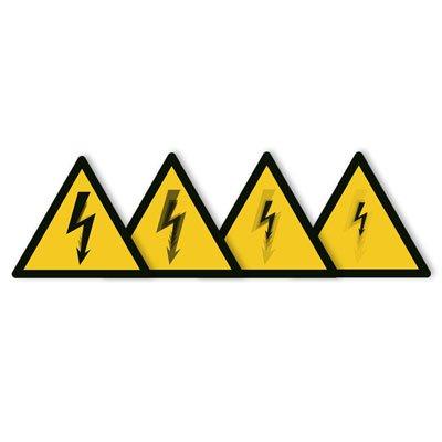 Seton Motion® Warning Sign Electrical Shock/Electrocution