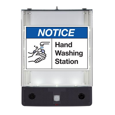 Seton Safety Sign Alerter Kit - Notice Hand Washing Station