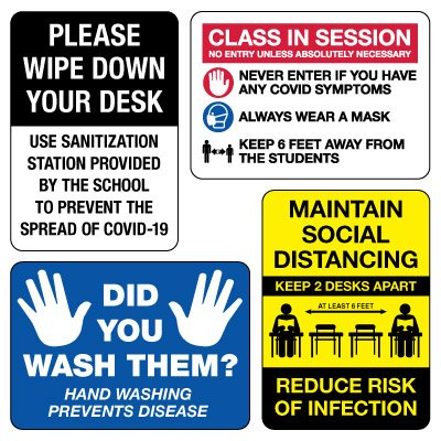 Social Distancing Signage Kit for Classrooms #1