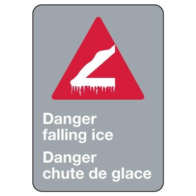 CSA Signs - Danger Falling Ice (English/French)