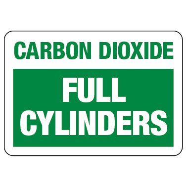 Cylinder Status Sign: Carbon Dioxide - Full Cylinders
