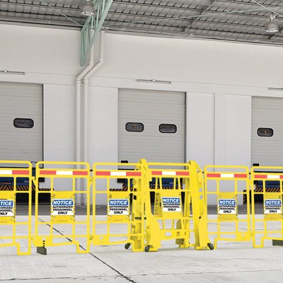 Seton EasyProtect™ Folding Barricade - Notice Authorized Personnel Only