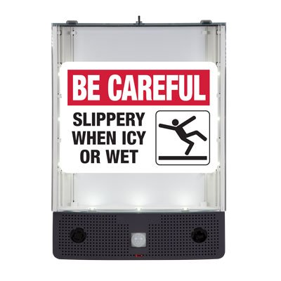 Seton Safety Sign Alerter Kit - Slippery When Icy or Wet Sign