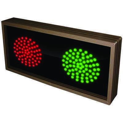 Horizontal Direct View Sign - Red/Green