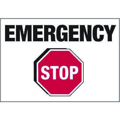 Electrical Warning Labels - Emergency Stop