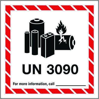 Lithium Battery Label UN3090