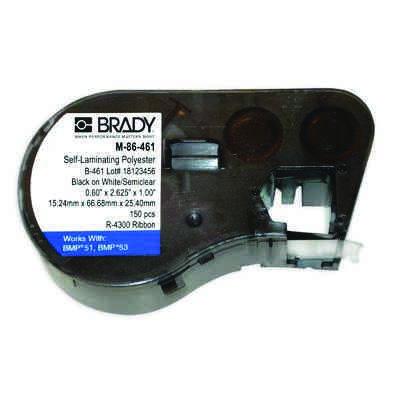 Brady M-86-461 BMP53/BMP51 Label Cartridge - White