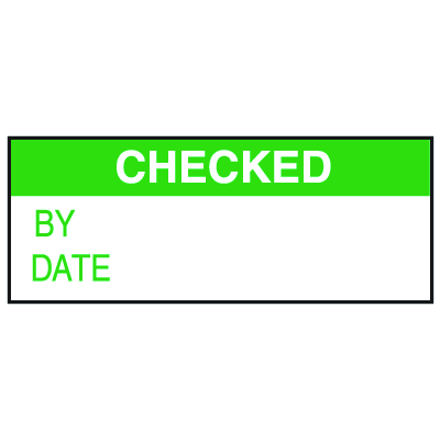 Checked Write On Labels