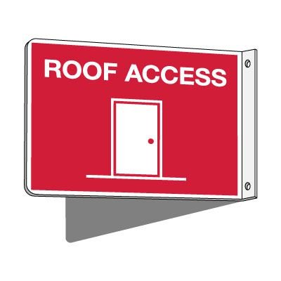2-Way Roof Access Sign