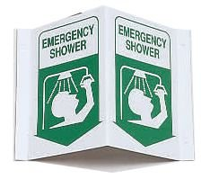3-Way View First Aid Safety Signs - Emergency Shower