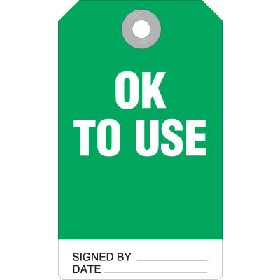 Ok To Use Accident Prevention Tag