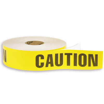 Adhesive Backed Barrier Tape -Caution