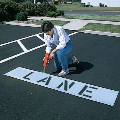 All-Weather Parking Lot Stencils