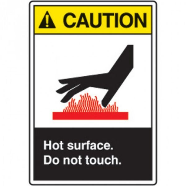 ANSI Safety Signs - Caution Hot Surface Do Not Touch